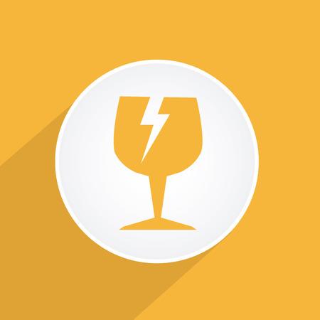 Danger design over yellow background, vector illustration Stock Vector - 28552436