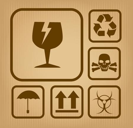 Danger design over beige background, vector illustration
