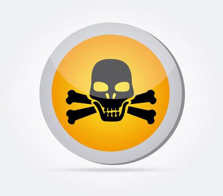 Danger design over white background, vector illustration