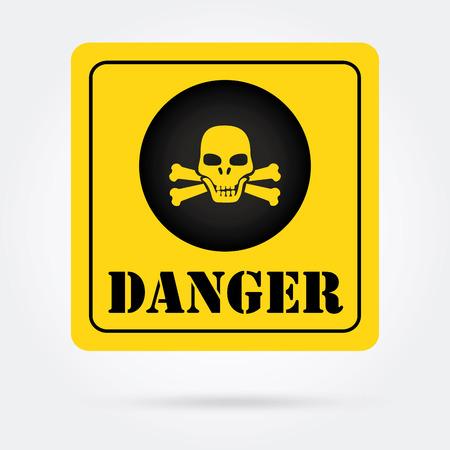 dangerous construction: Danger design over gray background, vector illustration