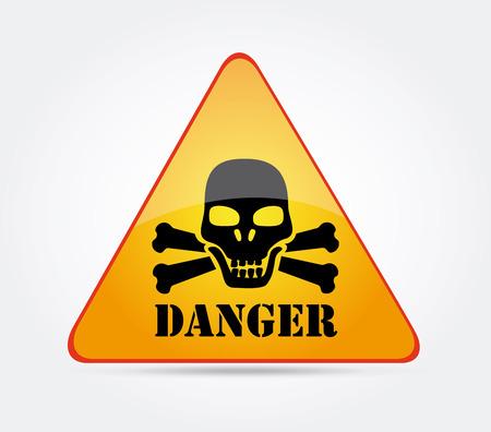 Danger design over gray background, vector illustration
