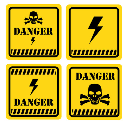 Danger design over white background, vector illustration Stock Vector - 28552683