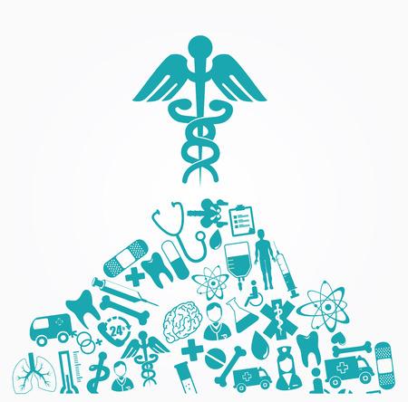 lugs: Medical design over white background, vector illustration Illustration