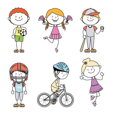 Kids design over white background, vector illustration Vector