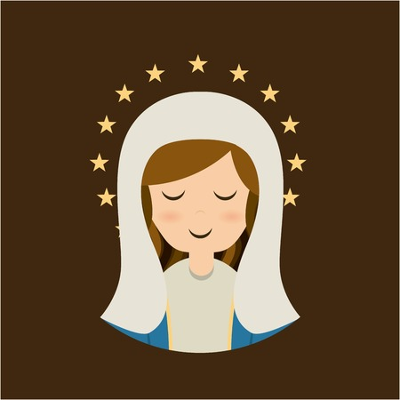 Holy Mary design over brown background, vector illustration Vector