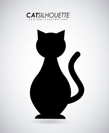 Pet design over gray background Vector