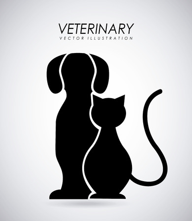 Pet design over gray background, vector illustration Vector