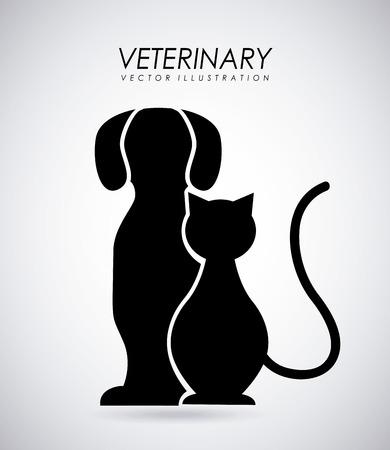 animal: Pet design over gray background, vector illustration