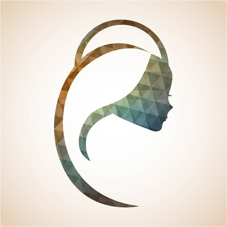 virgin women: Holy Mary design over beige background Illustration