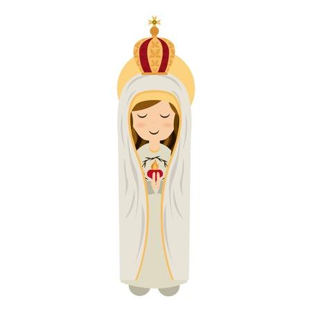 흰색 배경, 벡터 일러스트 레이 션을 통해 거룩한 마리아 디자인