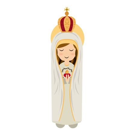 immaculate: Holy Mary design over white background, vector illustration