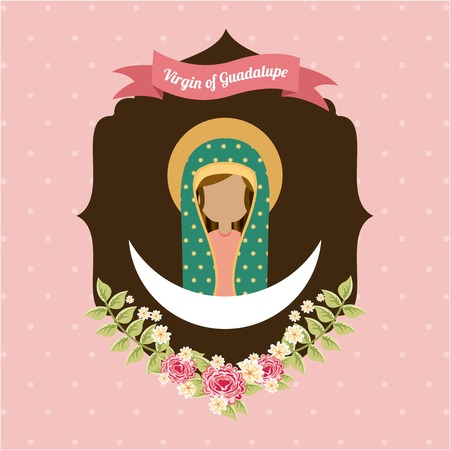 holy mary: Holy Mary design over pink background, vector illustration