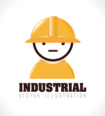 industrail: Industry design over white background,vector illustration