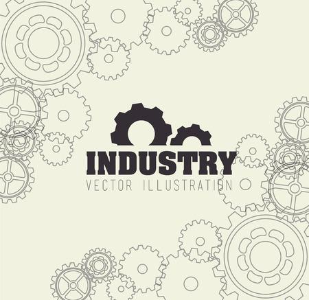gearshift: Gears design over beige background,vector illustration
