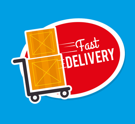 Delivery design over blue background,vector illustration Stock Vector - 28664350