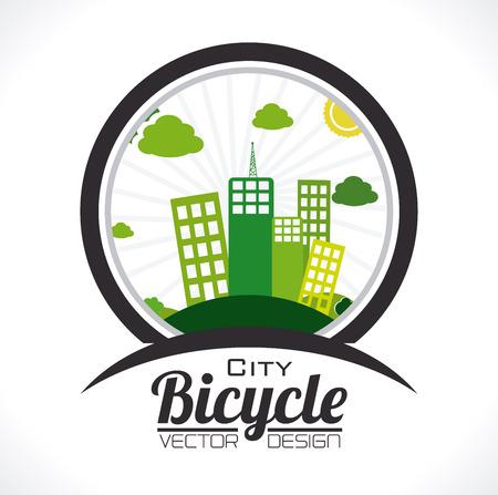 Bike design over white background,vector illustration Ilustrace