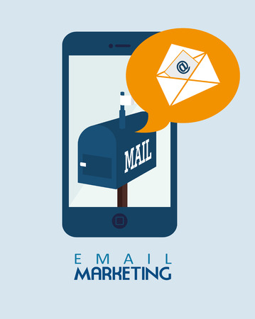 Email design over blue background,vector illustration