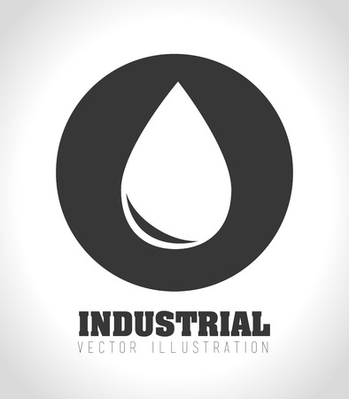 Industry design over white background Ilustracja