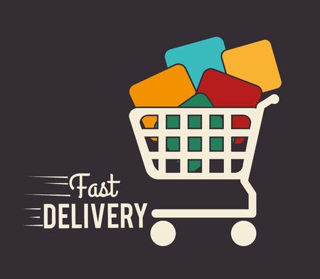 article marketing: Delivery design over gray background,vector illustration Illustration