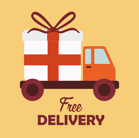 Delivery design over yellow background, Stock Vector - 28683717