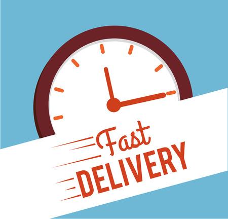Delivery design over blue background,vector illustration Stock Vector - 28664618