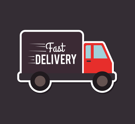 Delivery design over gray background,vector illustration Stock Vector - 28664620