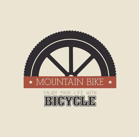 Bike design over beige background,vector illustration 向量圖像