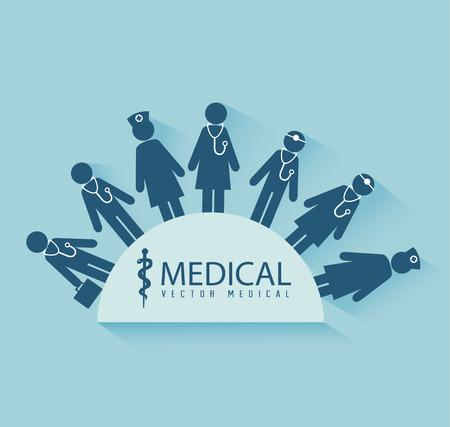 Medical design over blue background,vector illustration