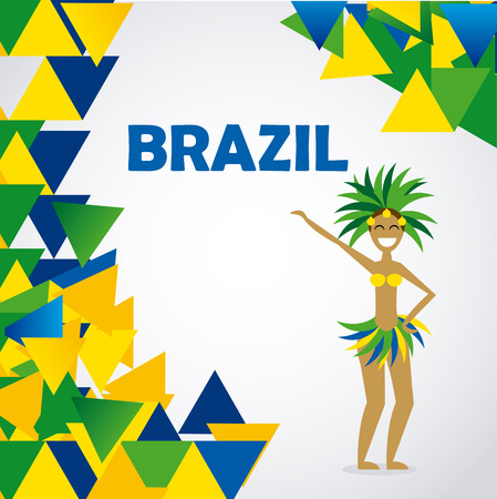 Brazil design over white background, vector illustration Vektorové ilustrace