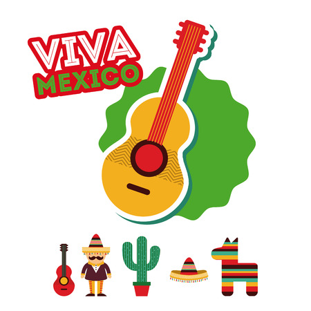 mariachi: Mexico design over white background, vector illustration