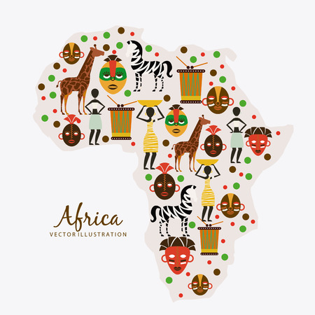 Africa design over white background, vector illustration Vector