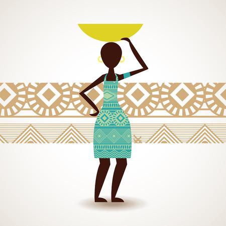 Africa design over beige background, vector illustration Vector