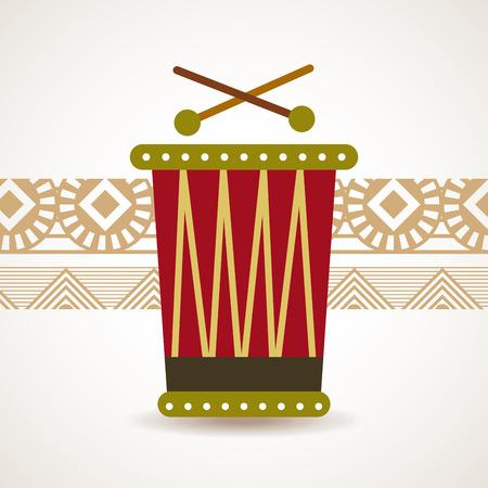 Africa design over beige background, vector illustration