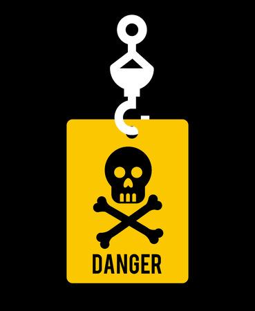 Danger design over black background, vector illustration Stock Vector - 28707818