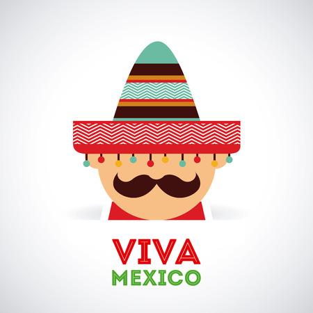 メキシコ灰色の背景、ベクトル図設計