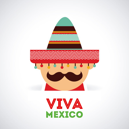 Mexico design over gray background,vector illustration