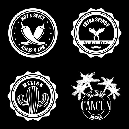 cancun: Mexico design over black background, vector illustration Illustration