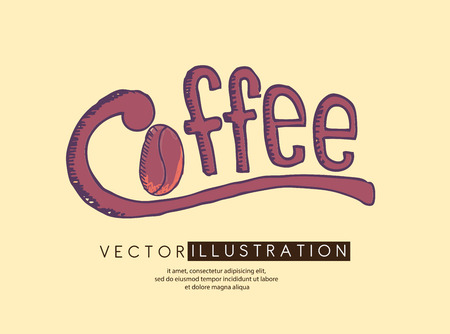 Coffee design over yellow background, vector illustration Vector