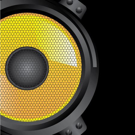 baffle: Music design over black background, vector illustration