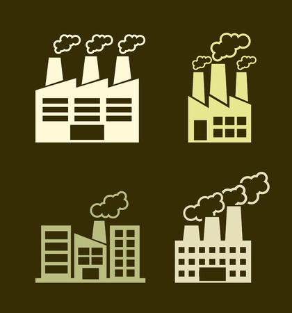 Industry design over brown background, vector illustration