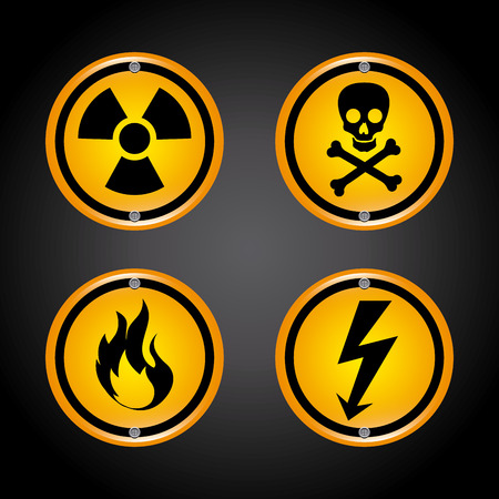 dangerous construction: Danger design over black background, vector illustration Illustration
