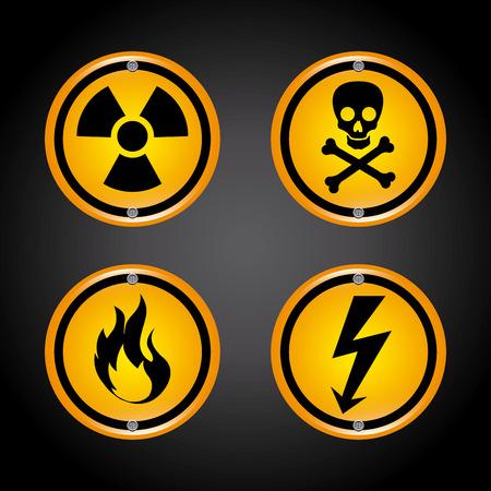 dangerous construction: Danger design over black background, vector illustration Illustration