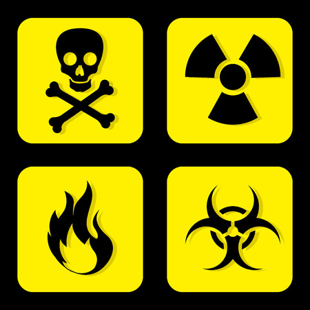 Danger design over black background, vector illustration Stock Vector - 28919531