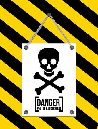 Danger design over black background, vector illustration Stock Vector - 28919536