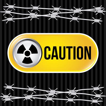 Danger design over black background, vector illustration Stock Vector - 28919541