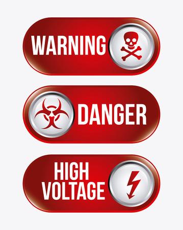 Danger design over white background, vector illustration Stock Vector - 28919545