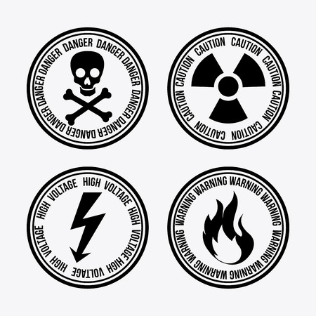 Danger design over white background, vector illustration Vector