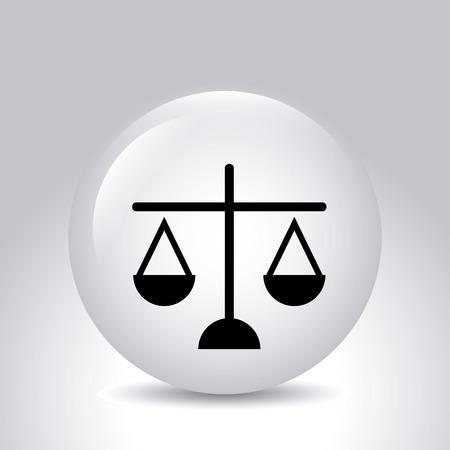 tribunal: Law design over gray background,vector illustration