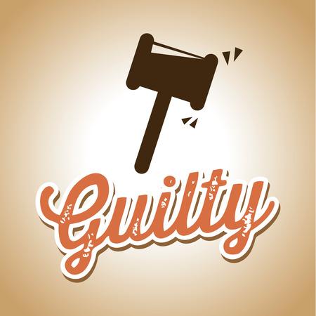 tribunal: Law design over beige background,vector illustration Illustration