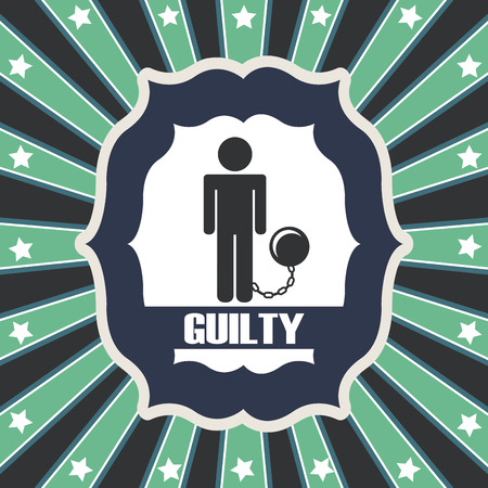 tribunal: Law design over green and gray stripes background,vector illustration Illustration